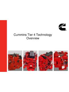 Cummins Tier 4 Technology Overview - Centers for Disease ...