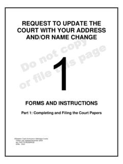 REQUEST TO UPDATE THE COURT WITH YOUR …