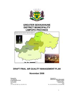 GREATER SEKHUKHUNE DISTRICT MUNICIPALITY …