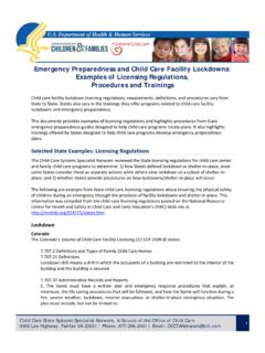 Emergency Preparedness and Child Care Facility Lockdowns ...