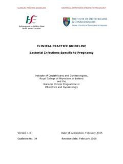 CLINICAL PRACTICE GUIDELINE Bacterial Infections …