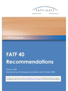 FATF 40 Recommendations