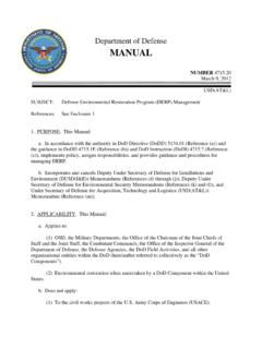 Department of Defense MANUAL - esd.whs.mil