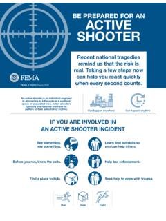 BE PREPARED FOR AN ACTIVE SHOOTER - fema.gov