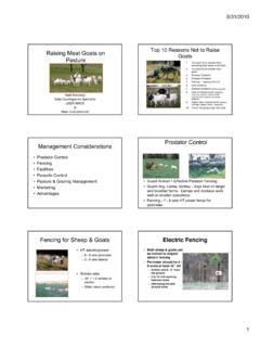 Raising Meat Goats on Pasture.ppt - Iowa Beef Center