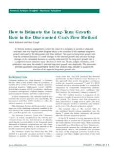How to Estimate the Long-Term Growth Rate in the ...