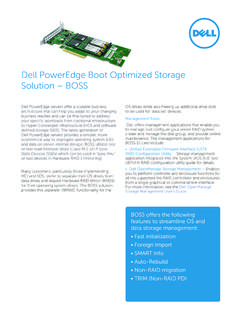 Dell PowerEdge Boot Optimized Storage Solution – BOSS