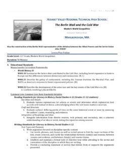 The Berlin Wall and the Cold War - Weebly