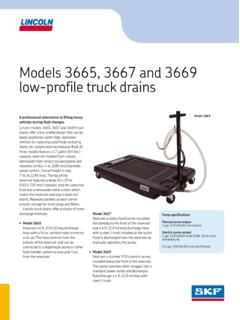 Models 3665, 3667 and 3669 low-profile truck drains