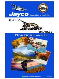 Towables Owner's Manual - Jayco, Inc