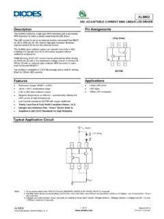 Description Pin Assignments ADVANCE ... - Diodes …