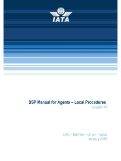 BSP Manual for Agents Local Procedures - iata.org