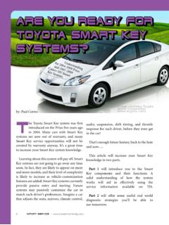 Are you ready for Toyota Smart Key systems?