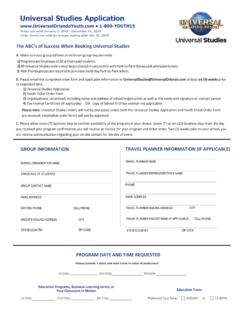 Universal Studies Order Form - Youth Programs
