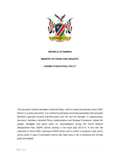 REPUBLIC OF NAMIBIA MINISTRY OF TRADE AND …