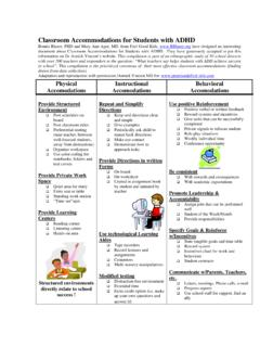 Classroom Accommodations for Students with ADHD