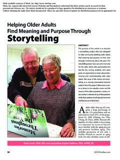 Helping Older Adults Find Meaning and Purpose Through ...