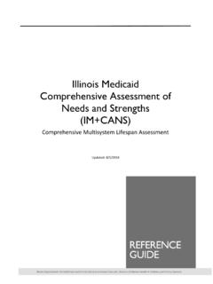 Illinois Medicaid Comprehensive Assessment of Needs and ...