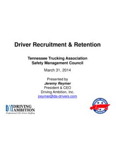 Driver Recruitment & Retention - TN Trucking