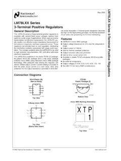 LM78LXX Series 3-Terminal Positive Regulators