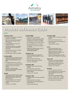 Product Reference Guide Astralloy Steel Products is a ...