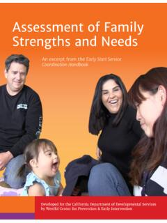 Assessment of Family Strengths and Needs