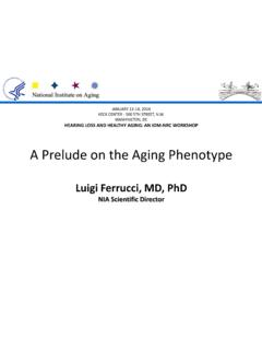A Prelude on the Aging Phenotype - nationalacademies.org
