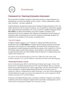 Framework for Teaching Evaluation Instrument
