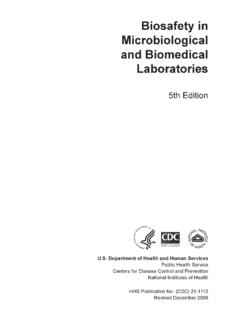 Biosafety in Microbiological and Biomedical …