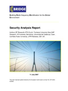 BRIDGE WP04 Security Analysis Report - bridge-project.eu
