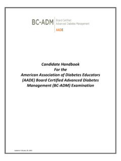 Candidate Handbook For the American Association of ...