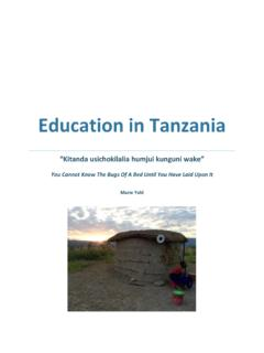 Education in Tanzania - nyu.edu