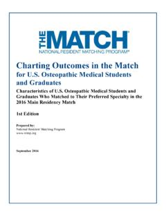 Charting Outcomes in the Match - The Match, …