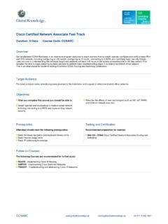 Cisco Certified Network Associate Fast Track