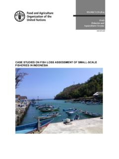 Case studies on fish loss assessment of small-scale ...