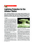 Lightning Protection for the Amateur Radio …
