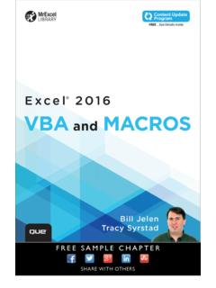 Excel® 2016 VBA and Macros - pearsoncmg.com