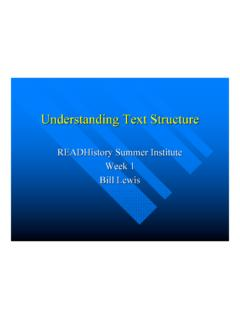 Understanding Text Structure - University of Delaware