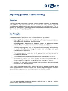 Reporting guidance Sewer flooding - ofwat.gov.uk