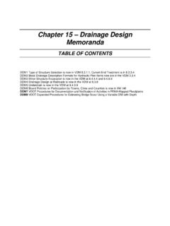 Chapter 15 – Drainage Design Memoranda