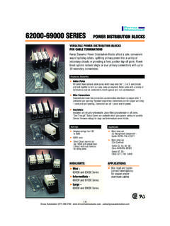 62000-69000 SerieS POWer DiSTriBUTiOn BLOCKS …