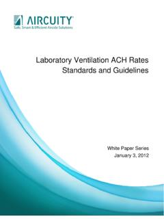 Laboratory Ventilation ACH Rates Standards and Guidelines