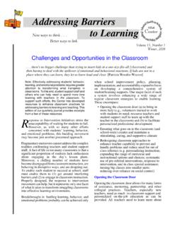Addressing Barriers to Learning - files.eric.ed.gov