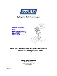 OPERATIONS AND MAINTENANCE MANUAL - …