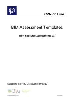 BIM Assessment Templates - The Construction Project ...