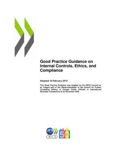 Good Practice Guidance on Internal Controls, Ethics, and ...