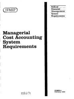 Managerial Cost Accounting System Requirements