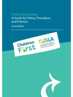 Child Safeguarding: A Guide for Policy, Procedure and Practice