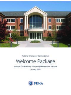 National Emergency Training Center Welcome Package