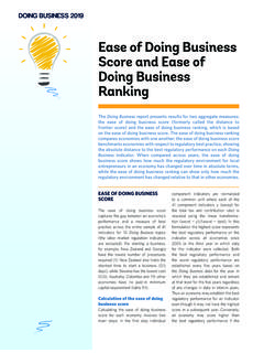 Ease of Doing Business Score and Ease of Doing Business ...